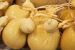 Dairy with cheese called caciocavallo Stock Photo