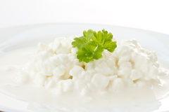 Dairy cottage cheese Stock Photo