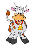 Dairy Cow. Hand drawn,digitally painted cartoon of a happy cow Royalty Free Stock Photos