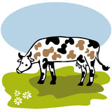 Dairy Cow. Agriculture.Breeding dairy Cattle. Vector illustration Stock Photo