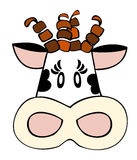 Dairy cow face. royalty free illustration