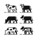Dairy cow symbols Stock Images