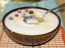 Dairy cream of wheat Stock Photo