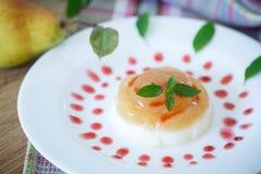 Dairy dessert panna cotta Stock Photo