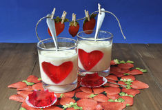 Dairy desserts Royalty Free Stock Photography