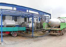 Dairy factory Stock Photo