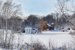 Dairy farm in fresh snow Stock Photography