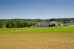 Dairy Farm in Rural Pennsylvania Stock Photo