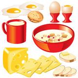 Dairy food. Set of  images of dairy products for your design Stock Images