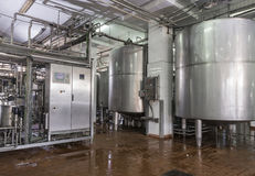 Dairy Food Production Plant Royalty Free Stock Images