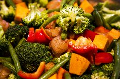 Anti-inflammatory pan with chicken and vegetables Royalty Free Stock Photo