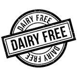 Dairy Free rubber stamp Stock Photography