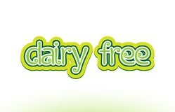 dairy free word text logo icon typography design Stock Images