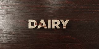Dairy - grungy wooden headline on Maple  - 3D rendered royalty free stock image Stock Images