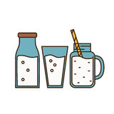 Dairy icon in line style design Stock Image