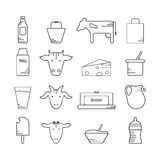 Dairy icon in line style Royalty Free Stock Images