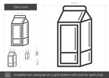 Dairy line icon. Royalty Free Stock Image