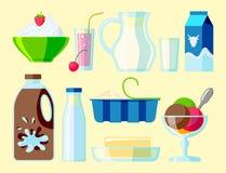 Dairy milk products organic drink bottle healthy yogurt cream nutrition farm  Stock Photo