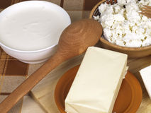 Dairy product. On a cook-table royalty free stock photo