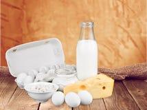Dairy product. Milk cheese eggs merchandise milk bottle food stock photography