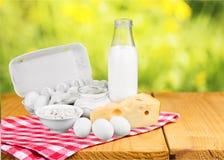 Dairy product. Milk cheese eggs merchandise milk bottle food stock photos