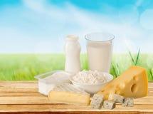 Dairy product. Milk cheese yogurt food breakfast drink royalty free stock image