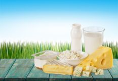 Dairy product. Milk cheese yogurt food breakfast drink stock photography