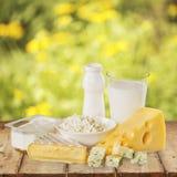 Dairy product. Milk cheese yogurt food breakfast drink stock image