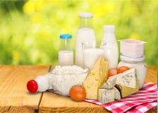 Dairy product. Milk cheese yogurt milk bottle food drink stock images