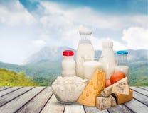 Dairy product. Milk cheese yogurt milk bottle food drink royalty free stock images