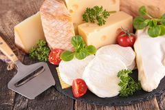 Dairy product, fresh cheese Stock Photo