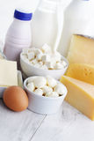 Dairy product. Group of dairy product - food and drink Stock Photos