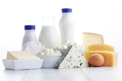 Dairy product. Group of dairy product - food and drink stock images