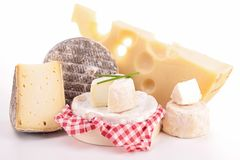 Dairy product. Isolated dairy products on white Stock Images