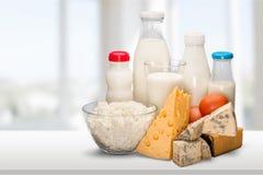 Dairy Product. Milk Cheese Yogurt Milk Bottle Food Drink Royalty Free Stock Photo