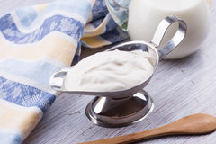 Dairy product -  sour cream. Royalty Free Stock Photography