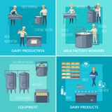 Dairy Production Catroon Design Concept Stock Photography
