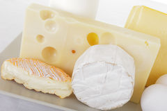 Dairy products. Close up of dairy products Royalty Free Stock Photography