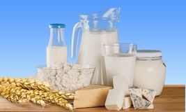 Dairy products advertise. Background balkan breakfast bulgarian calcium cheese Royalty Free Stock Photography