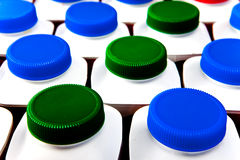 Dairy products bottles.Close up Stock Photography