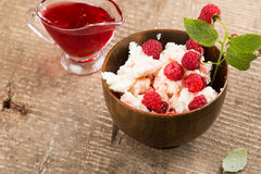 Dairy products - cottage cheese Stock Images