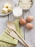 Dairy products and eggs Stock Photography