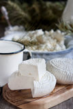 Dairy products and grains Stock Image