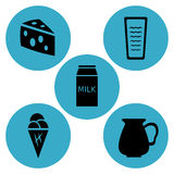 Dairy products icon designs Stock Photo