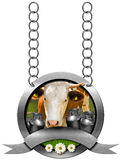 Dairy Products - Metal Sign with Chain Stock Photos