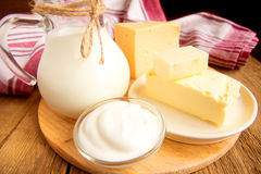 Dairy products Royalty Free Stock Photography