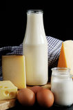 Dairy products milk ,cheese and eggs Royalty Free Stock Photography