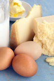 Dairy Products Milk Cheeses Eggs and Butter Stock Image