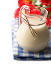 Dairy products - milk in pitcher. Royalty Free Stock Photography