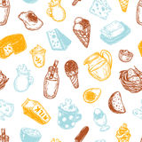 Dairy Products, Pattern. Royalty Free Stock Photo